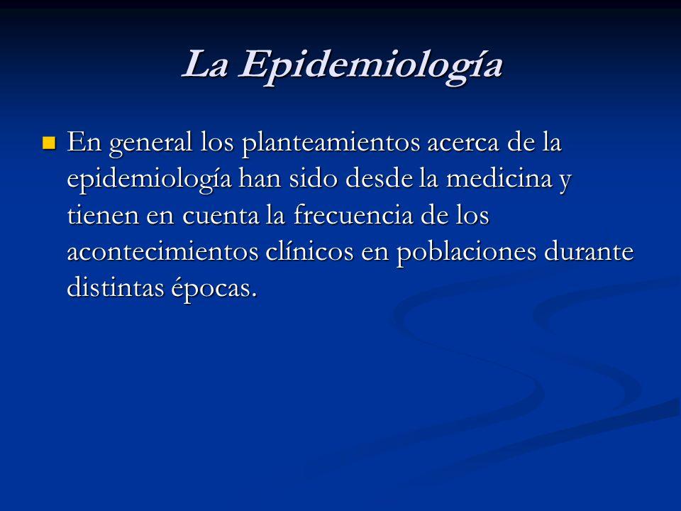 La Epidemiología