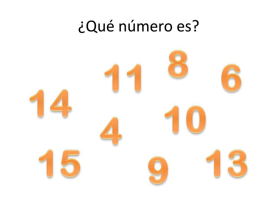 ¿Qué número es 8 11 6 14 10 4 15 13 9