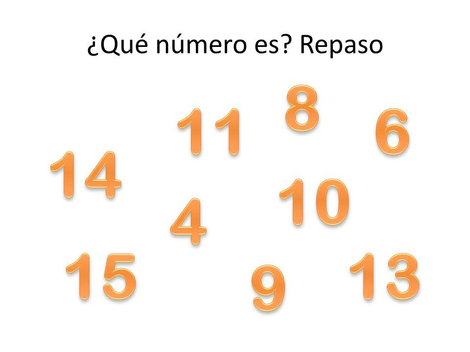 ¿Qué número es Repaso 8 11 6 14 10 4 15 13 9