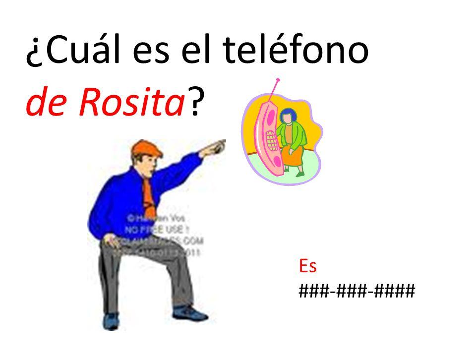 ¿Cuál es el teléfono de Rosita