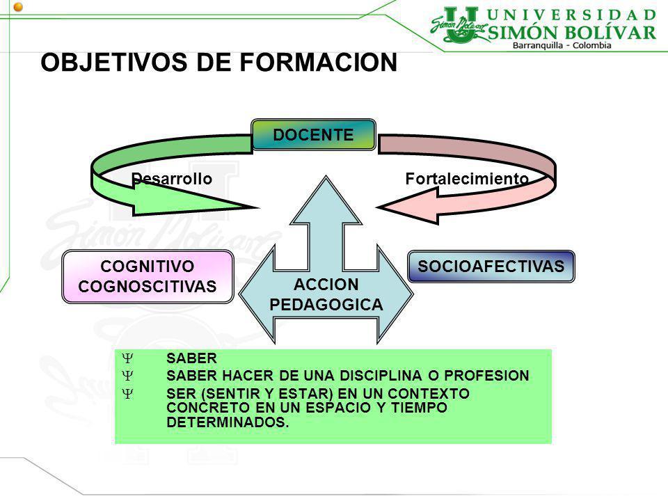 OBJETIVOS DE FORMACION
