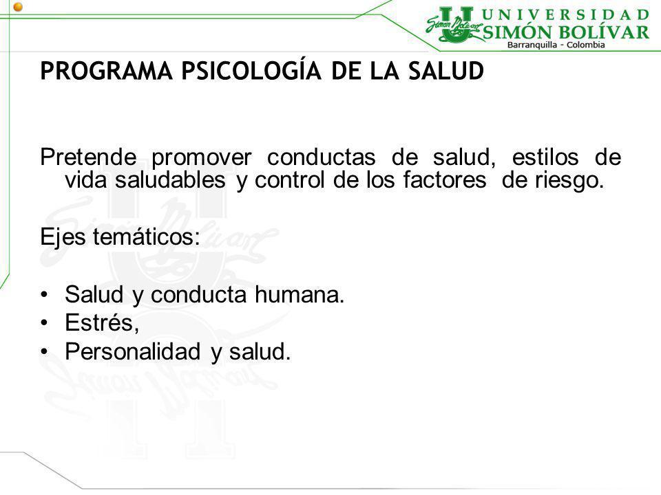 PROGRAMA PSICOLOGÍA DE LA SALUD