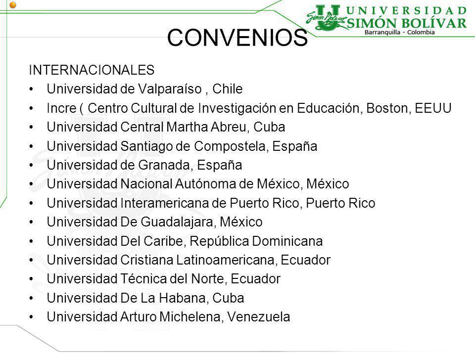 CONVENIOS INTERNACIONALES Universidad de Valparaíso , Chile