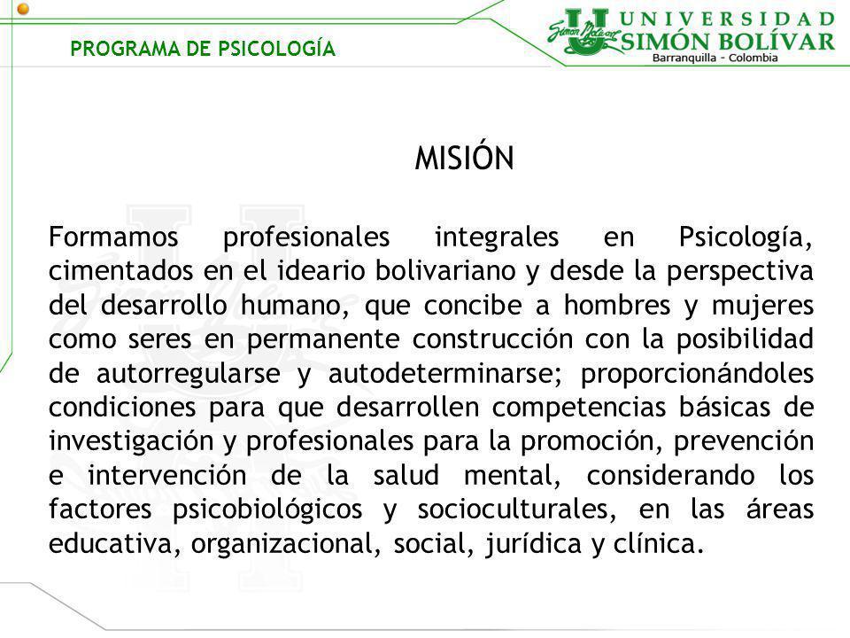 PROGRAMA DE PSICOLOGÍA