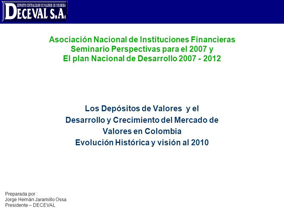 Los Depósitos de Valores y el Desarrollo y Crecimiento del Mercado de