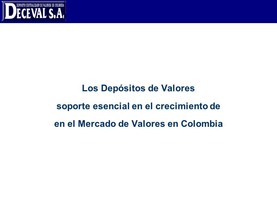 Los Depósitos de Valores soporte esencial en el crecimiento de en el Mercado de Valores en Colombia