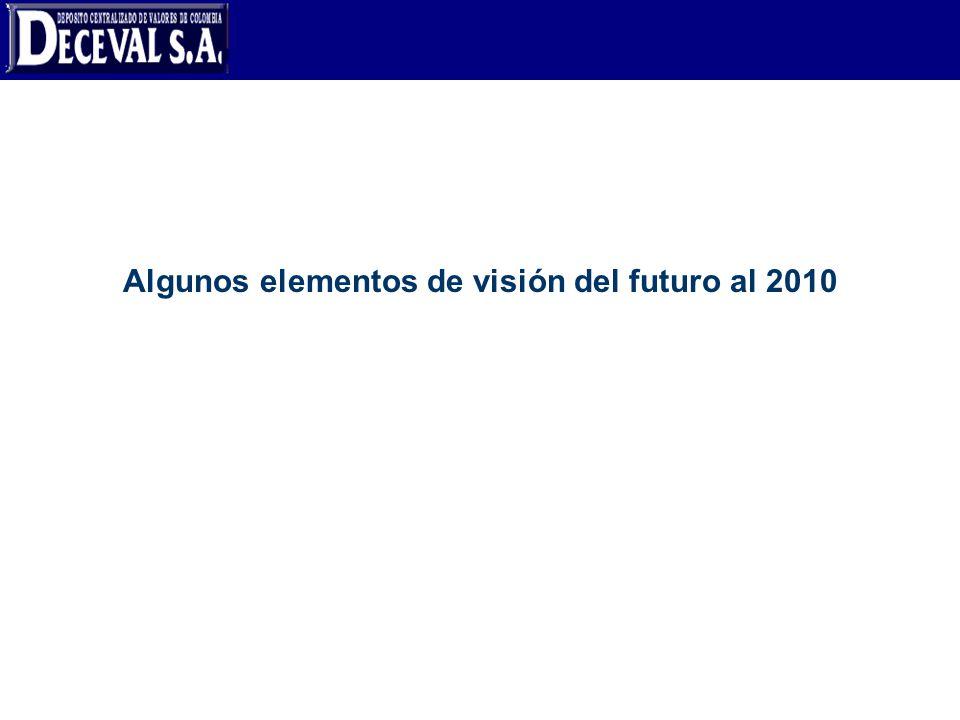 Algunos elementos de visión del futuro al 2010