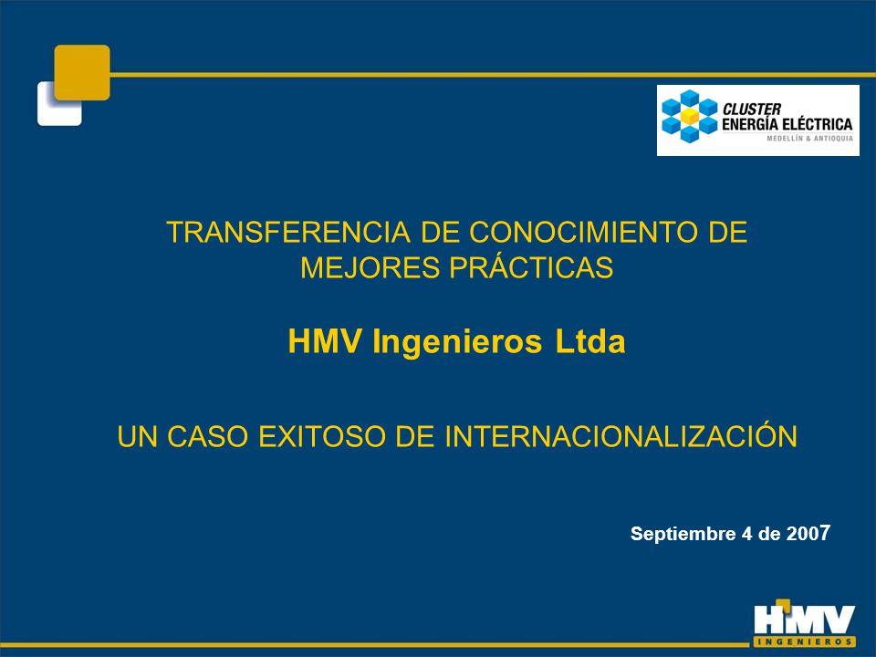 TRANSFERENCIA DE CONOCIMIENTO DE MEJORES PRÁCTICAS HMV Ingenieros Ltda UN CASO EXITOSO DE INTERNACIONALIZACIÓN