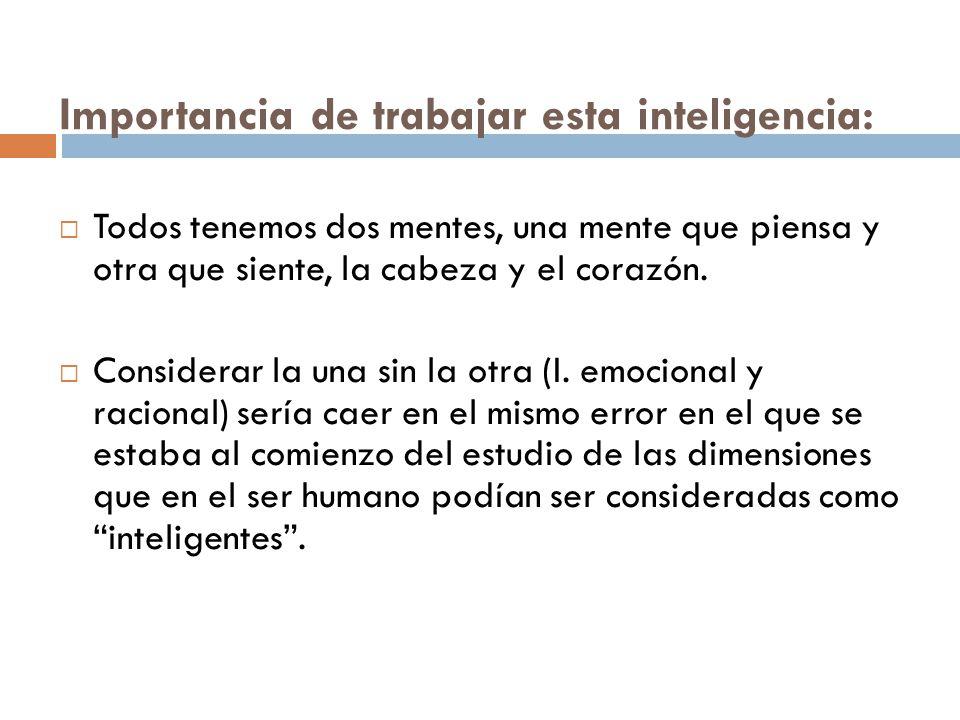 Importancia de trabajar esta inteligencia: