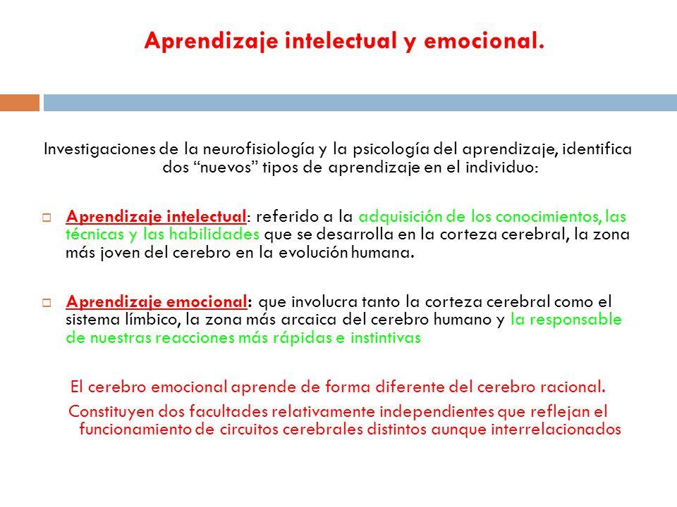 Aprendizaje intelectual y emocional.