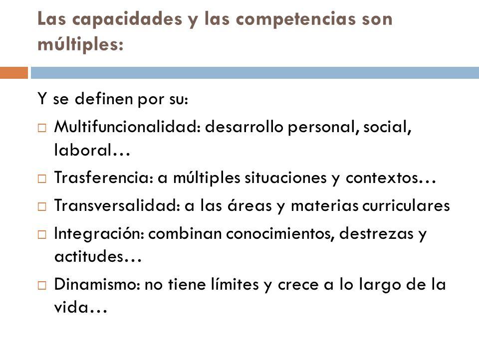 Las capacidades y las competencias son múltiples: