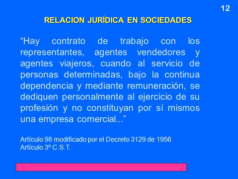 RELACION JURÍDICA EN SOCIEDADES