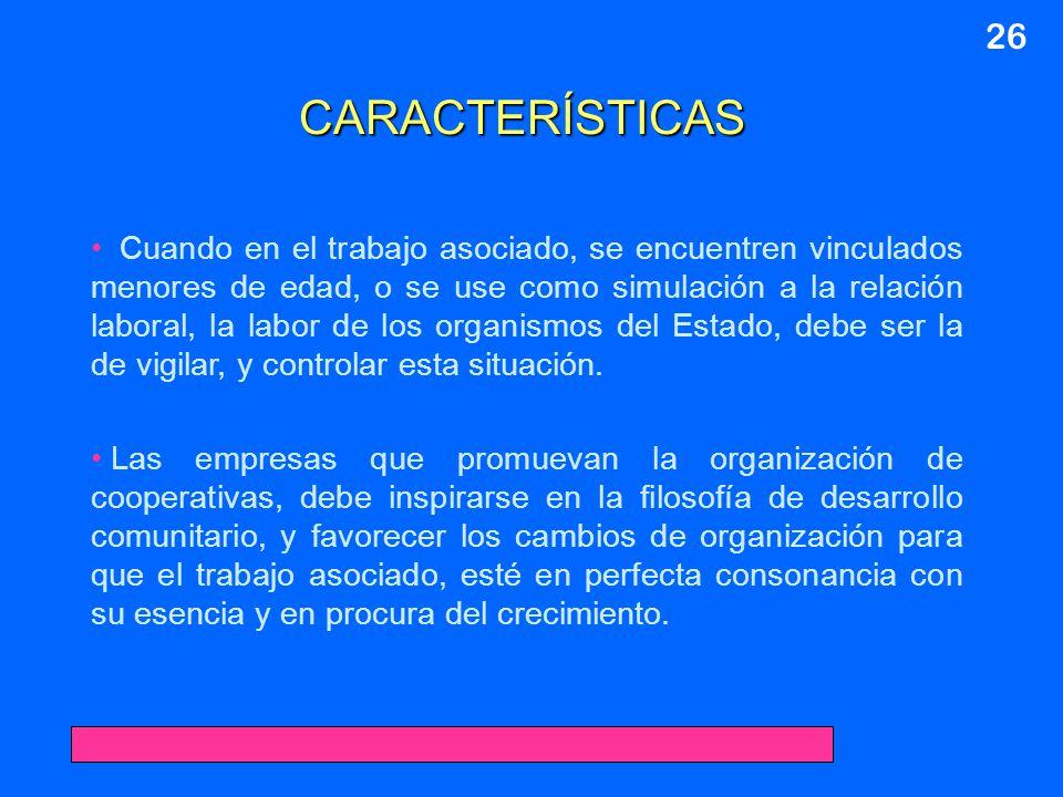 26 CARACTERÍSTICAS.