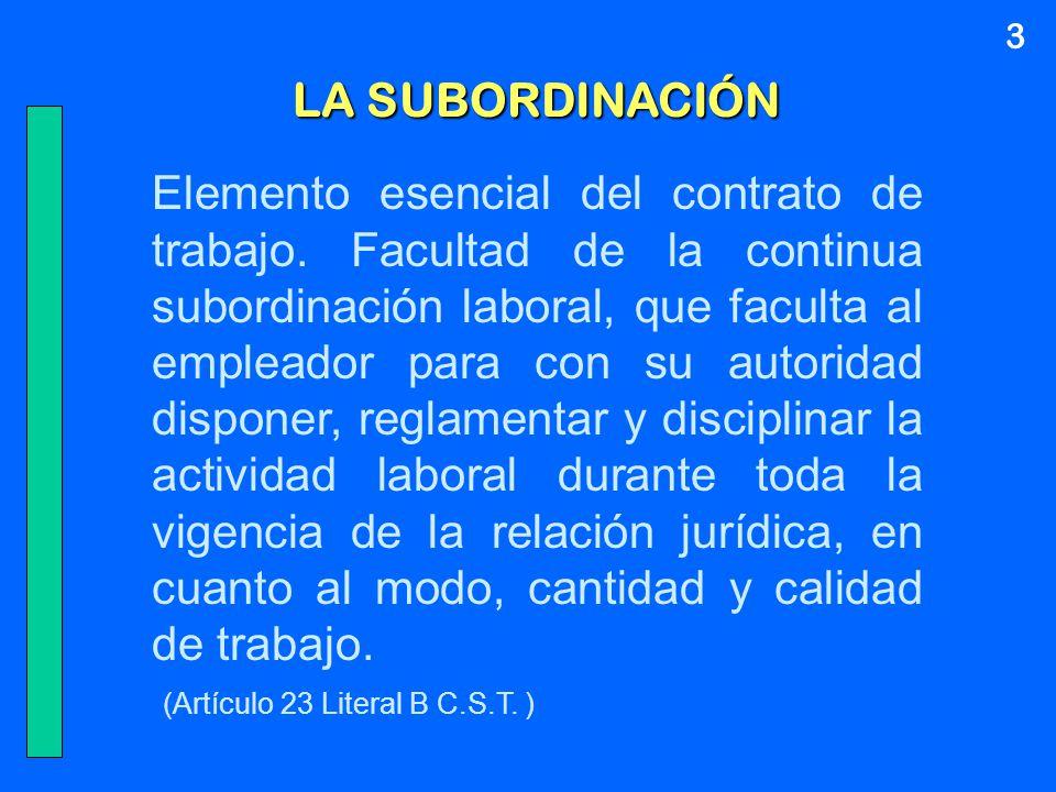 3 LA SUBORDINACIÓN.