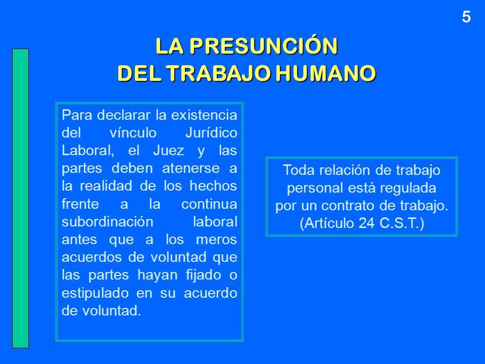 LA PRESUNCIÓN DEL TRABAJO HUMANO