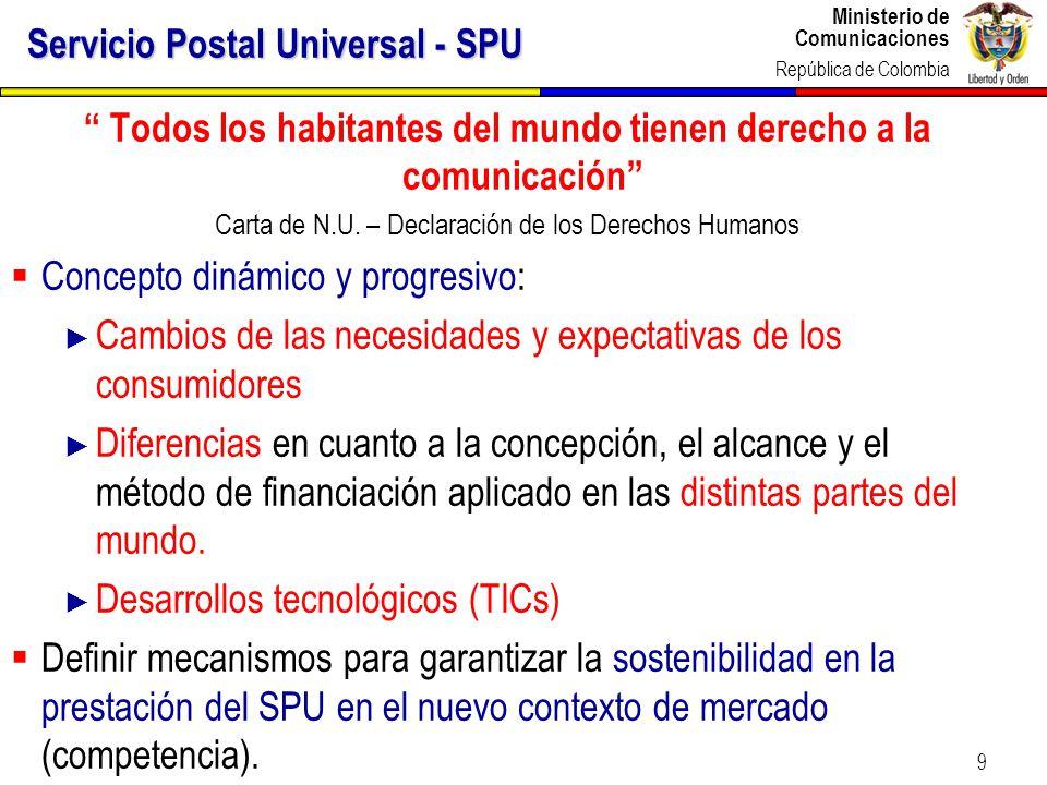 Servicio Postal Universal - SPU