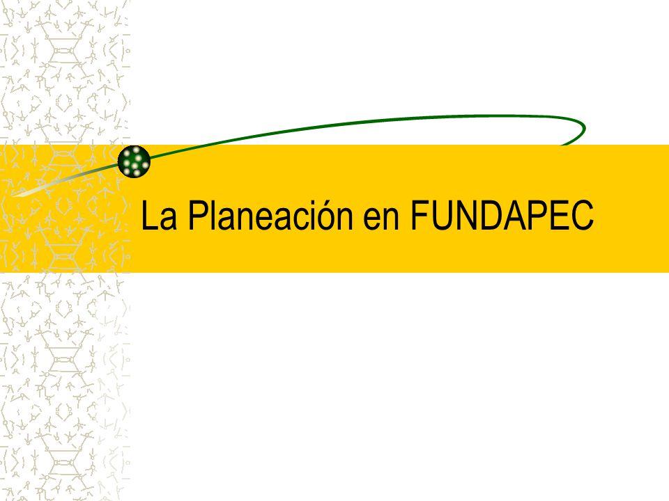 La Planeación en FUNDAPEC