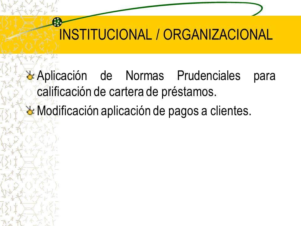 INSTITUCIONAL / ORGANIZACIONAL