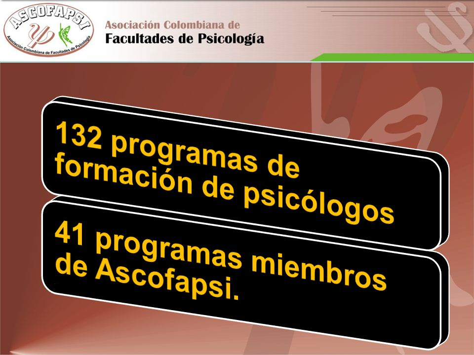 132 programas de formación de psicólogos