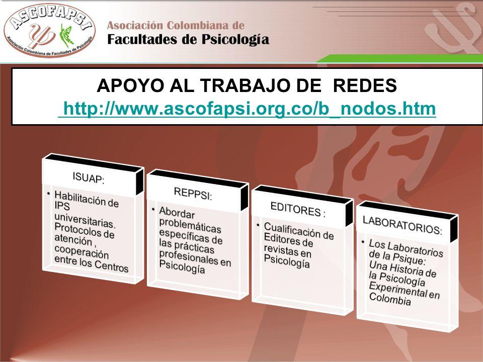 APOYO AL TRABAJO DE REDES http://www.ascofapsi.org.co/b_nodos.htm