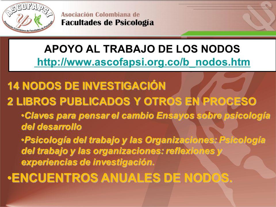 APOYO AL TRABAJO DE LOS NODOS http://www.ascofapsi.org.co/b_nodos.htm