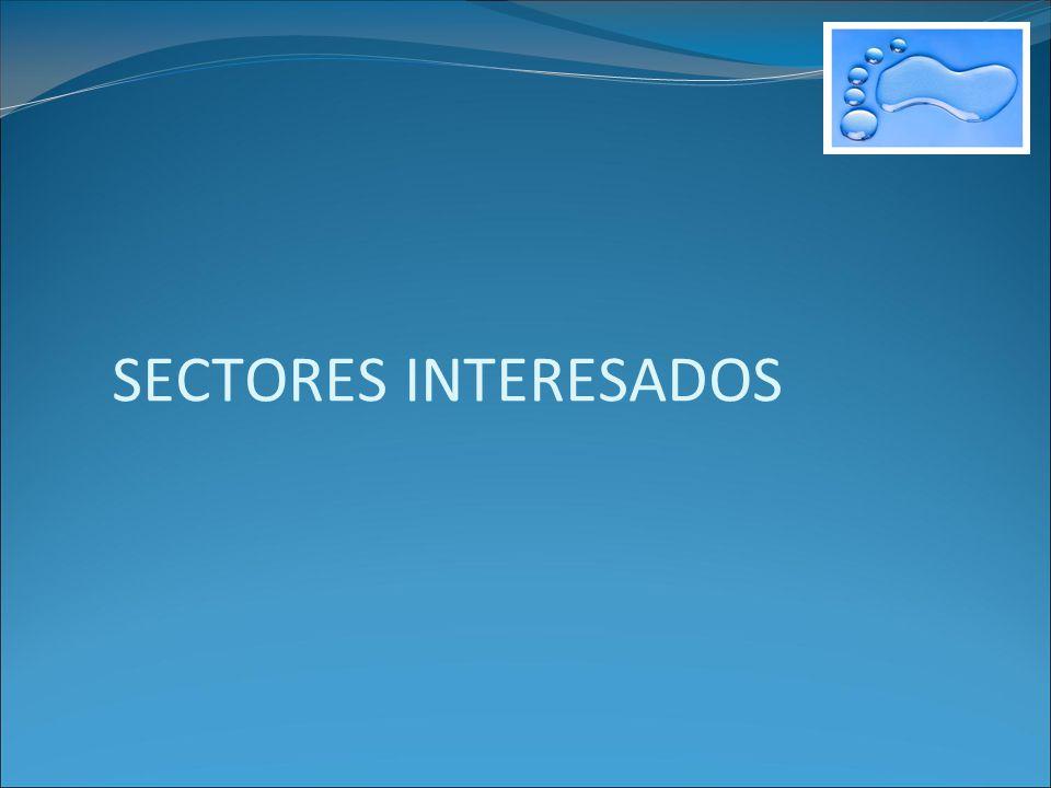 SECTORES INTERESADOS