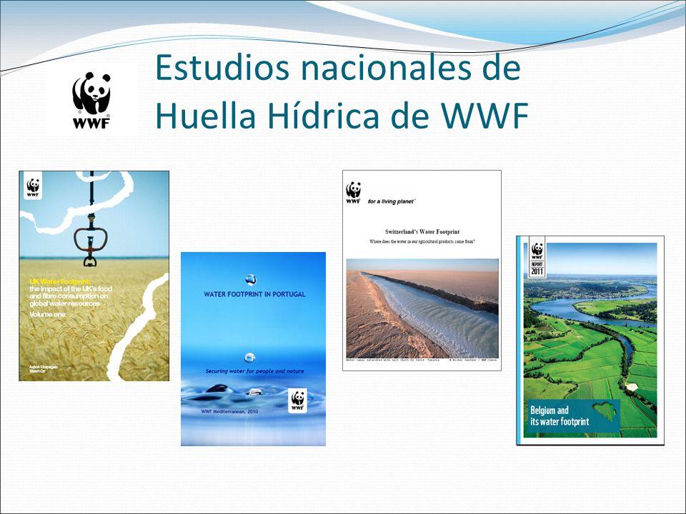 Estudios nacionales de Huella Hídrica de WWF