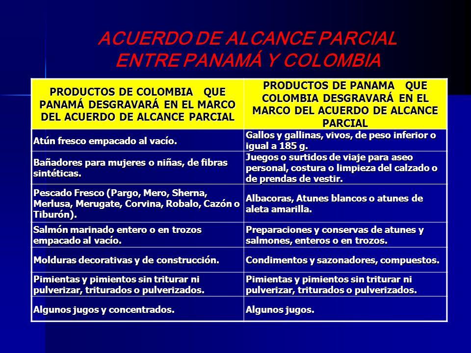 ACUERDO DE ALCANCE PARCIAL ENTRE PANAMÁ Y COLOMBIA
