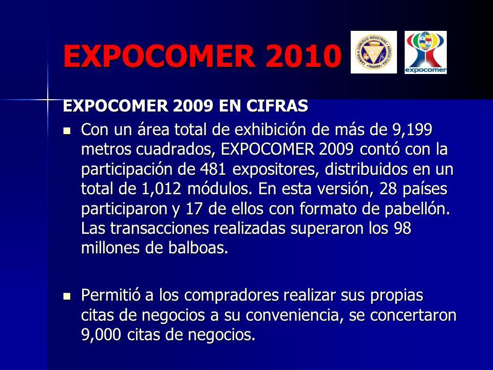 EXPOCOMER 2010 EXPOCOMER 2009 EN CIFRAS