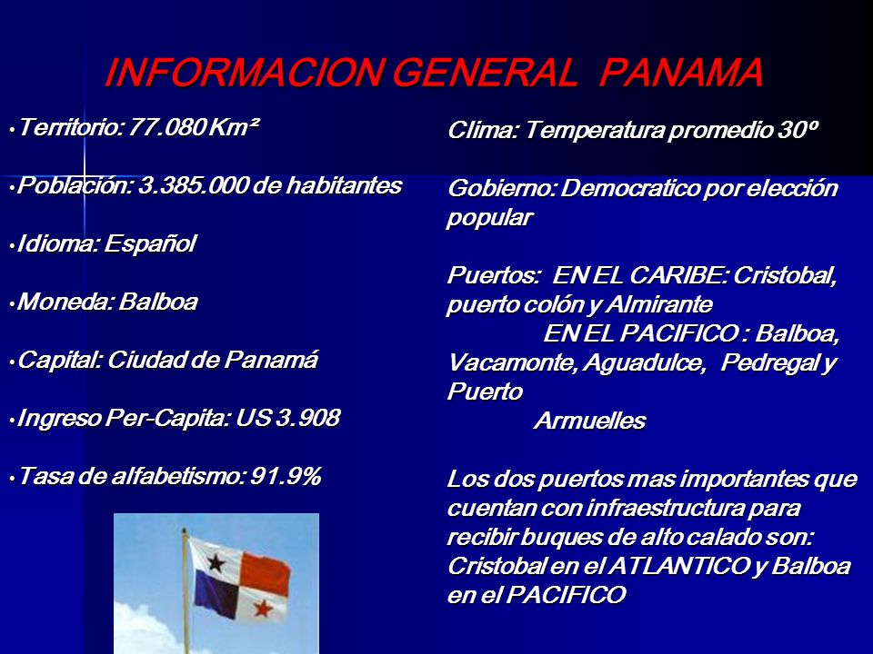 INFORMACION GENERAL PANAMA
