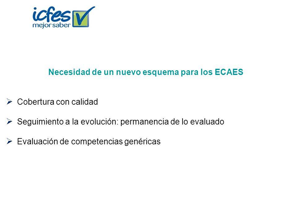 Necesidad de un nuevo esquema para los ECAES