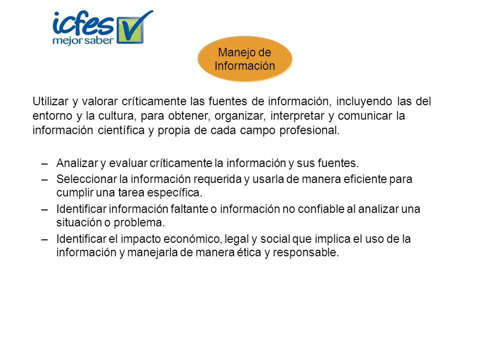 Analizar y evaluar críticamente la información y sus fuentes.