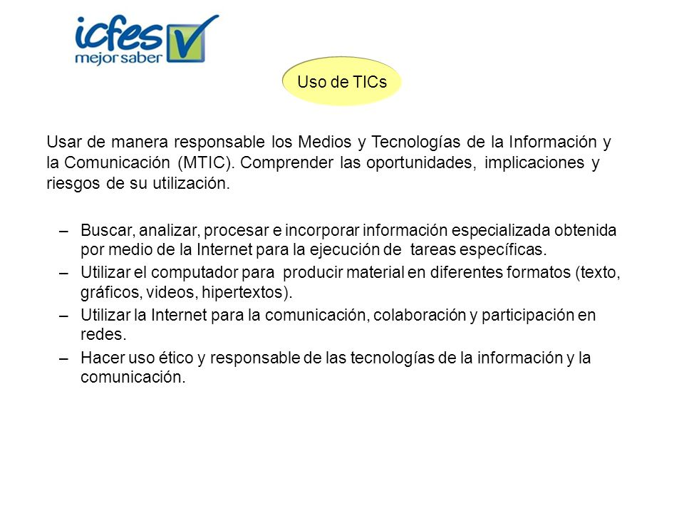 Uso de TICs