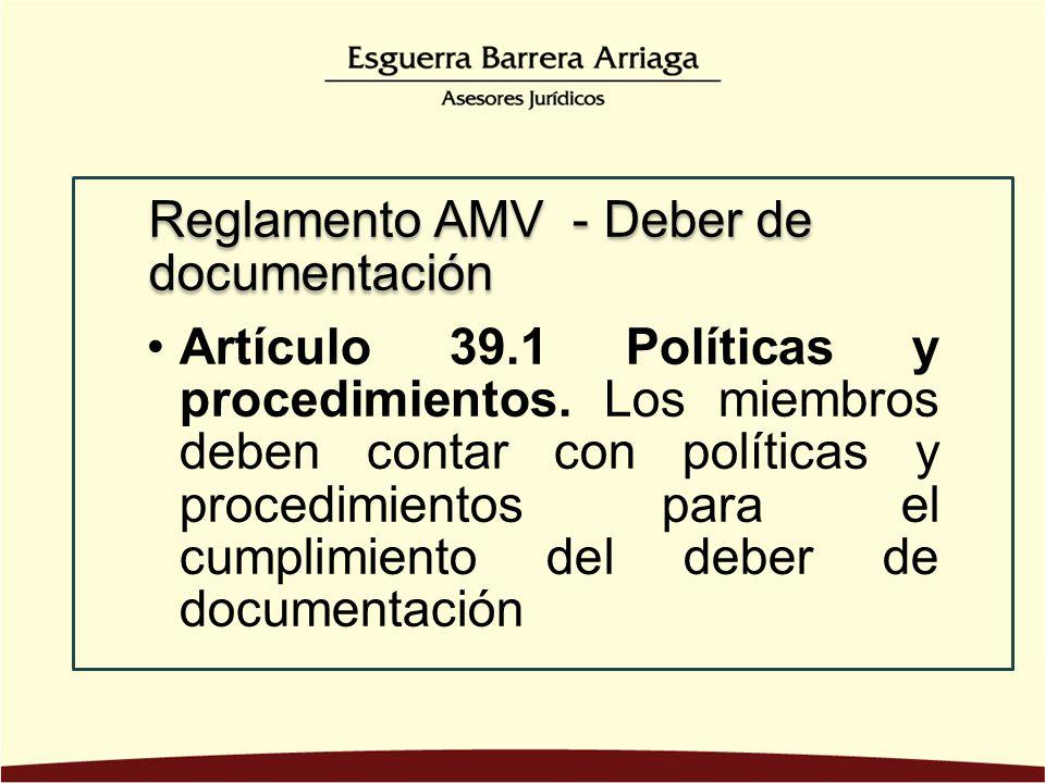 Artículo 39. 1 Políticas y procedimientos