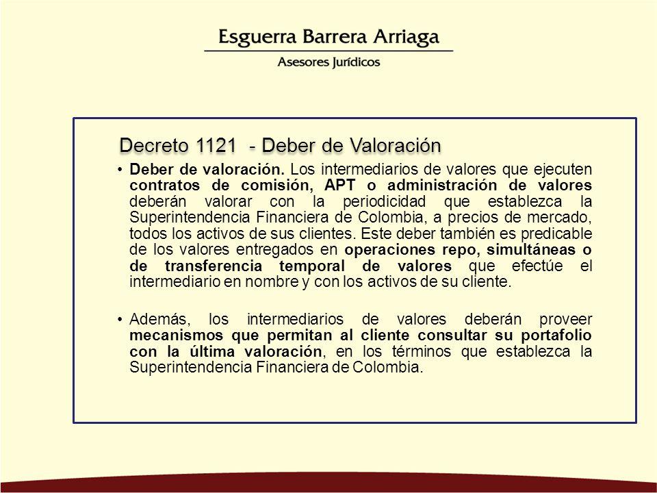 Decreto 1121 - Deber de Valoración