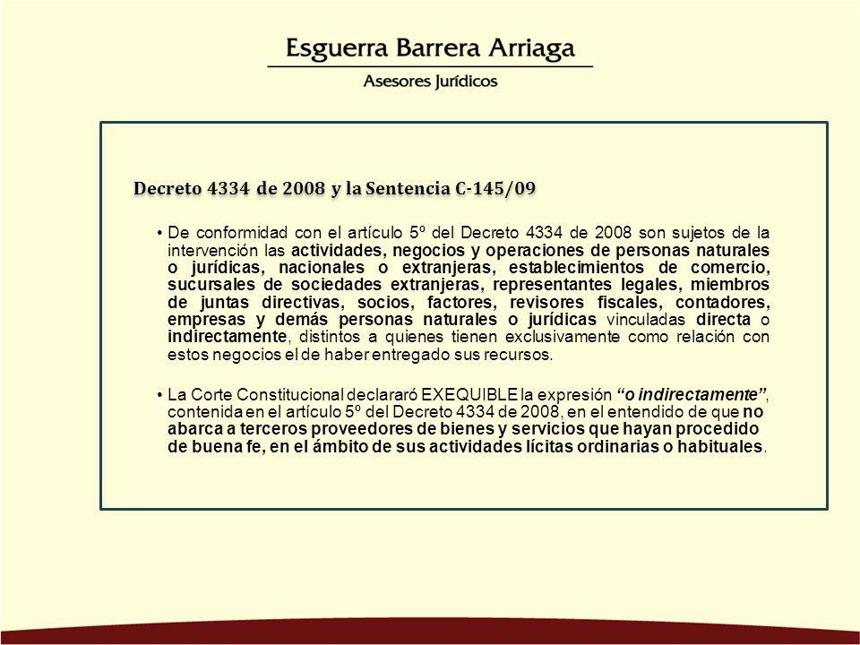 Decreto 4334 de 2008 y la Sentencia C-145/09