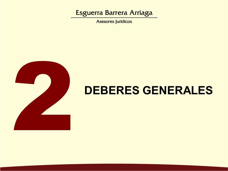 2 DEBERES GENERALES