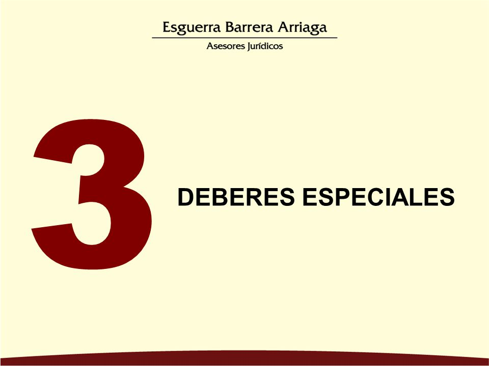3 DEBERES ESPECIALES