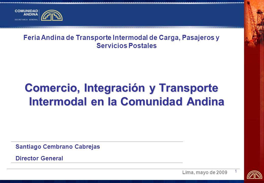 Comercio, Integración y Transporte Intermodal en la Comunidad Andina