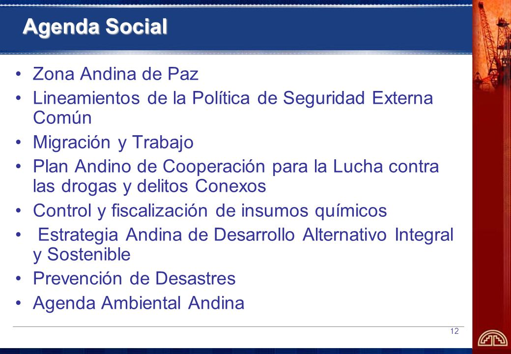 Agenda Social Zona Andina de Paz