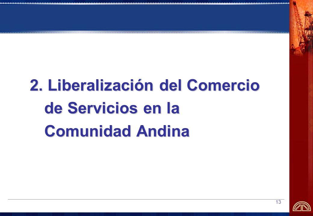 2. Liberalización del Comercio de Servicios en la Comunidad Andina