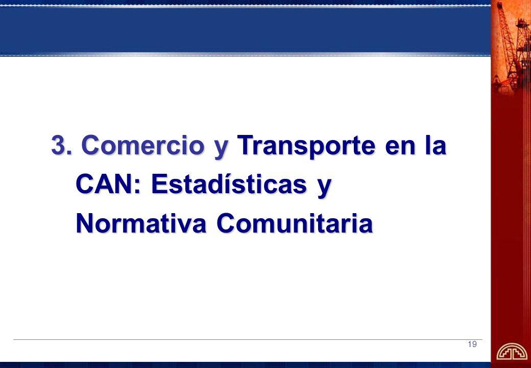 3. Comercio y Transporte en la CAN: Estadísticas y Normativa Comunitaria