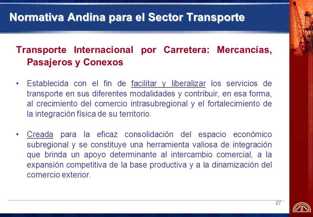 Normativa Andina para el Sector Transporte