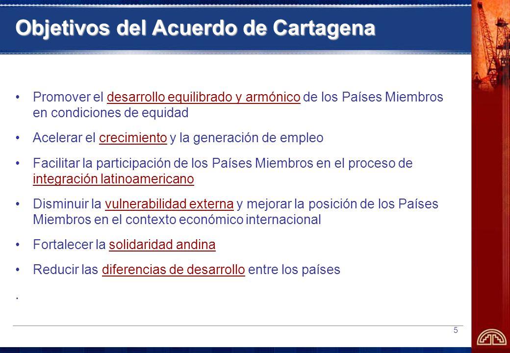 Objetivos del Acuerdo de Cartagena