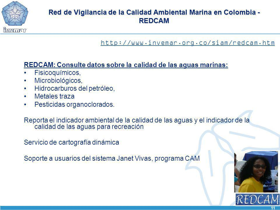 Red de Vigilancia de la Calidad Ambiental Marina en Colombia - REDCAM