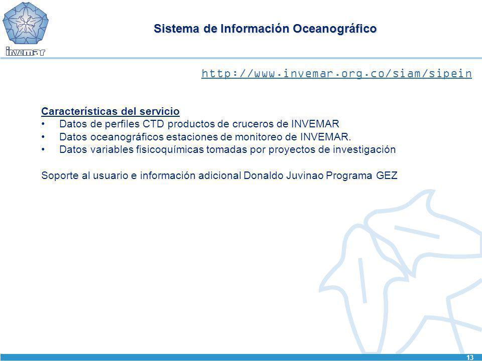 Sistema de Información Oceanográfico