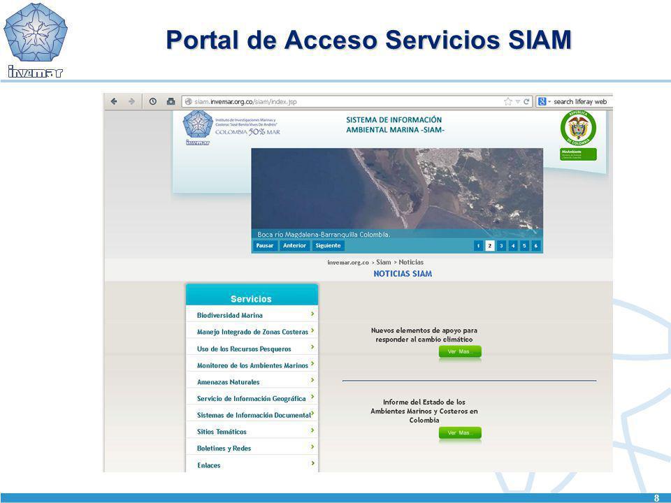 Portal de Acceso Servicios SIAM