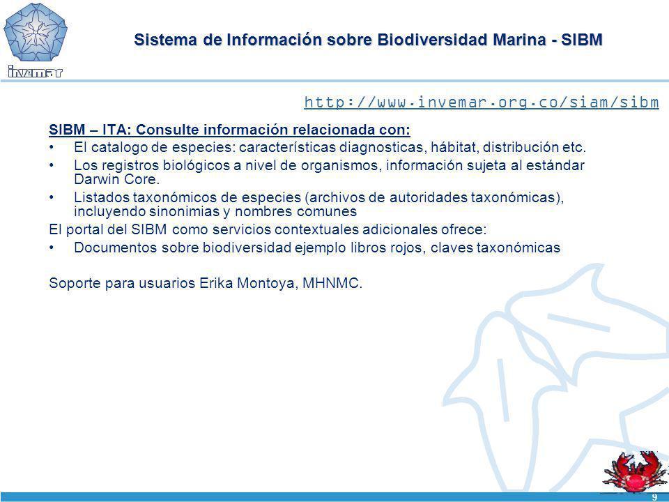Sistema de Información sobre Biodiversidad Marina - SIBM