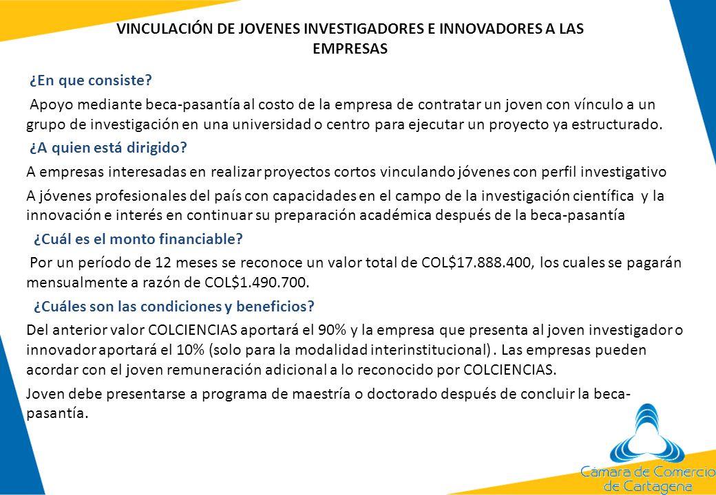 FINANCIACIÓN DE TRÁMITES DE OBTENCIÒN DE PATENTES Y DE OTRAS MODALIDADES