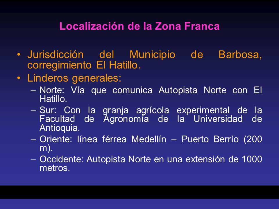 Localización de la Zona Franca